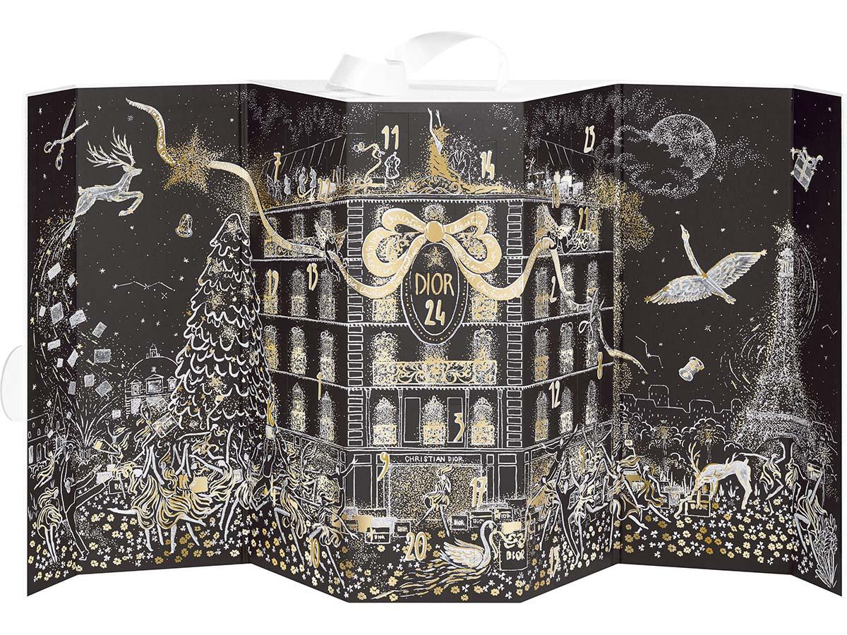 クリスマスを彩るパリのディオール ブティック