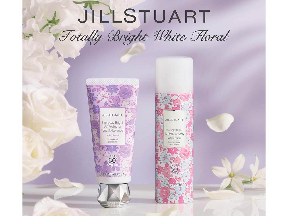 人気のホワイトフローラルの香りから2種ジルスチュアート UVプロテクター発売