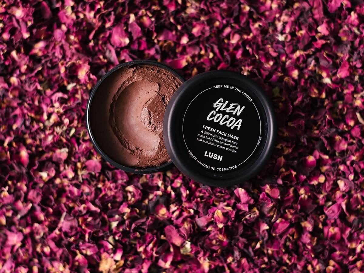 LUSH『グレンショコラ』発売花の香り漂うフレッシュフェイスマスク